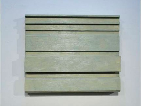 Entre líneas / Óleo sobre madera / 46 x 56 x 7 cm - 46 x 56 x 8 cm