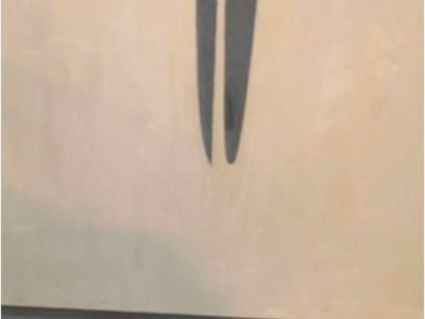 Punto de vista (pintura) / Óleo sobre lienzo, madera y espejo / 158,5 x 53 x 14,2 cm